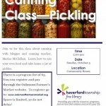 Food in Jars - pickling class